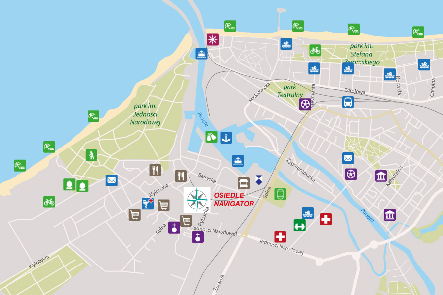 Lokalizacja osiedla Navigator w Kołobrzegu