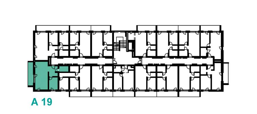 Rzut 1 piętra, Etap A, Osiedle Navigator Kołobrzeg ul. Rybacka 12
