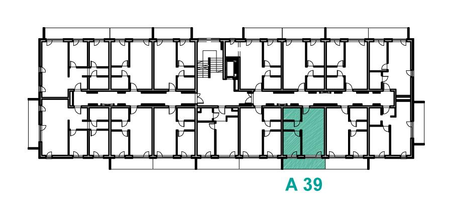 Rzut 2 piętra, Etap A, Osiedle Navigator Kołobrzeg ul. Rybacka 12