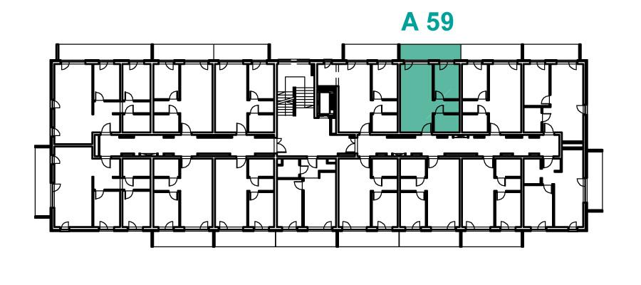 Rzut 3 piętra, Etap A, Osiedle Navigator Kołobrzeg ul. Rybacka 12